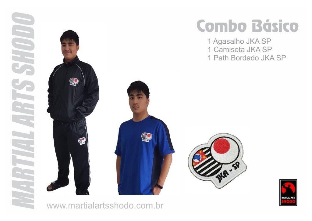 Combo Basico: 1 Agasalho + 1 camiseta + 1 Path Bordado JKA SP