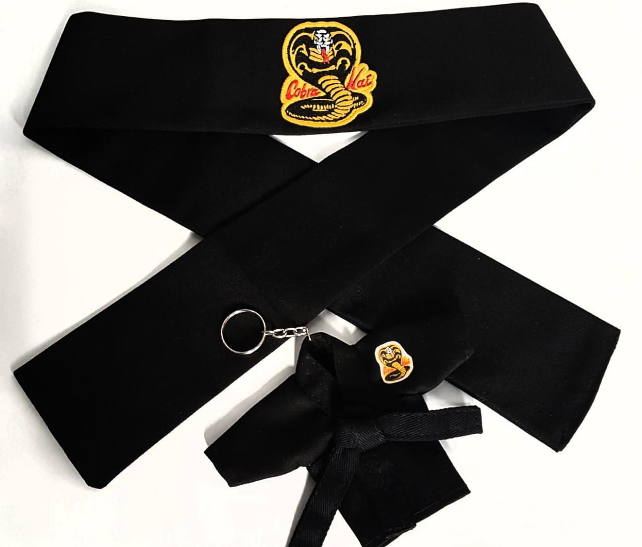 Hachimaki Bandana Karate Cobra Kai + Kimono Chaveiro