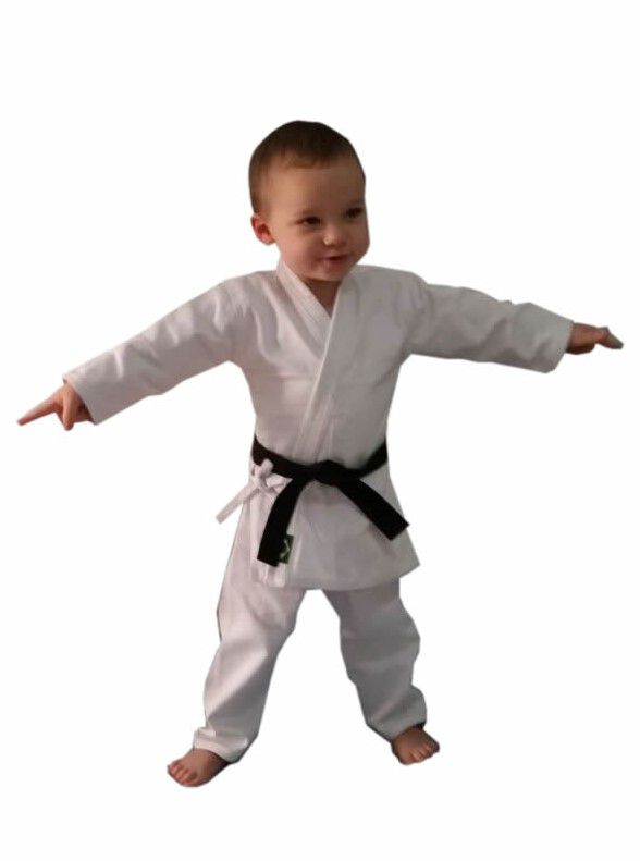 Kimono Bebe de 14 meses até 2 anos Karate/Judo/Jiu Jitsu/Aikido/Hapkido/Krav Maga C/faixa branca ou preta