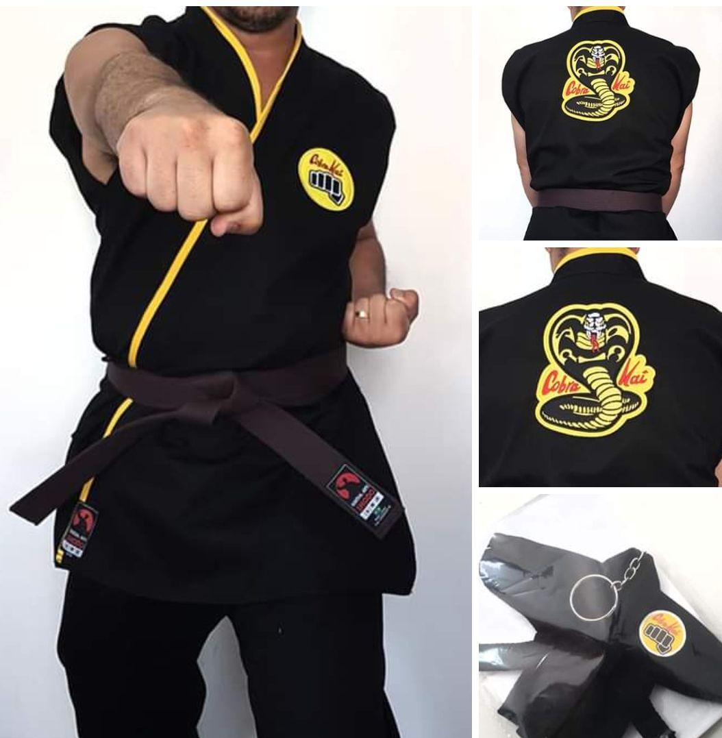 Kimono Cobra Kai (Polycotton) + Brinde Chaveiro