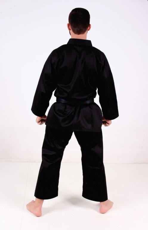 Kimono Hapkido/Krav maga/Karate Adulto PA (Policotton) Preto Martial Arts Shodo