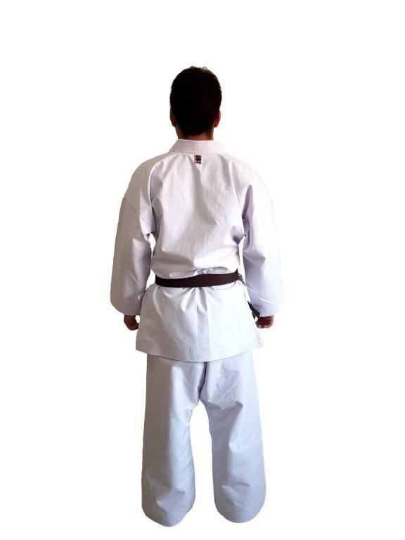 Kimono Karate Adulto Lona K10 medium canvas Linha Premium + 1 Path JKA SP