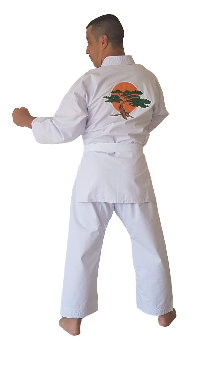 Kimono Miyagi Do PA Lonita Adulto/Infantil + Faixa Branca + Brinde Chaveiro