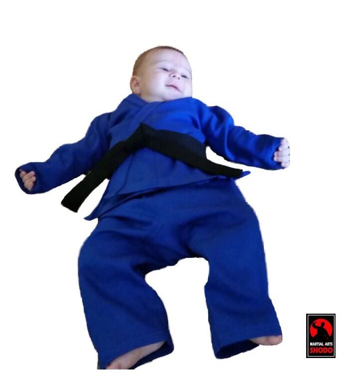 Kimono Bebe até 6 meses Karate/Judo/Jiu Jitsu/Aikido/Hapkido/Krav Maga C/faixa branca ou preta
