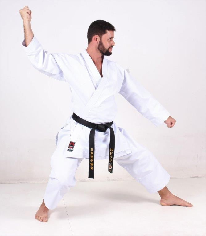 Combo Evolution: 1 Kimono Karate PA Premium + 1 Agasalho Karate Evol Cinza/preto+ 1 Bolsa Shotokan