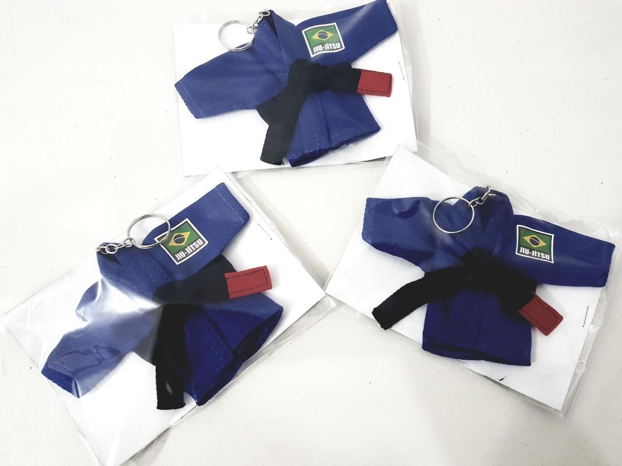 Mini Kimoninho Jiu Jitsu Azul Brasil  Combo 3 unidades