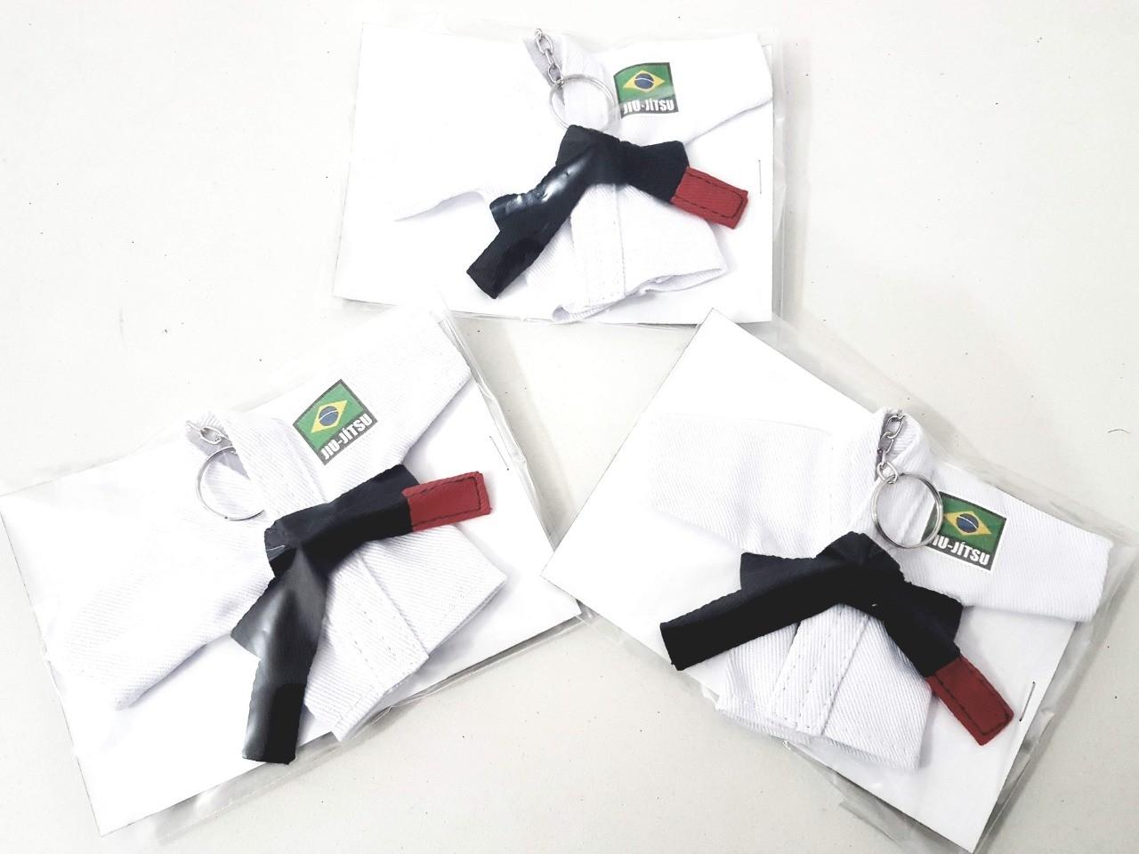 Mini Kimoninho Jiu Jitsu Branco Brasil Combo 3 unidades