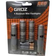 JOGO DE MINI LANTERNAS DE LED COM 4PÇS GROZ LED/110-55001