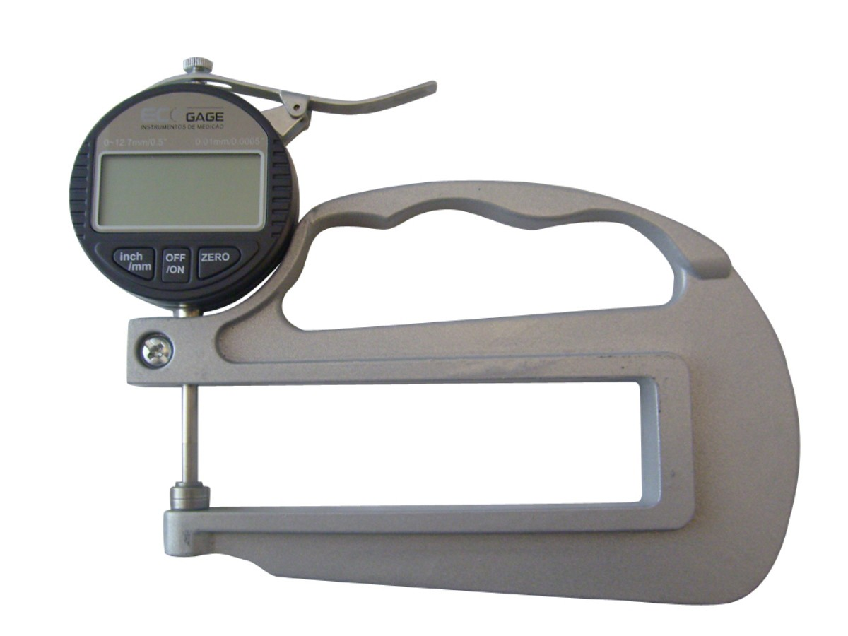 MEDIDOR DE ESPESSURA DIGITAL 0-10MM ECOGAGE ECO-150.3