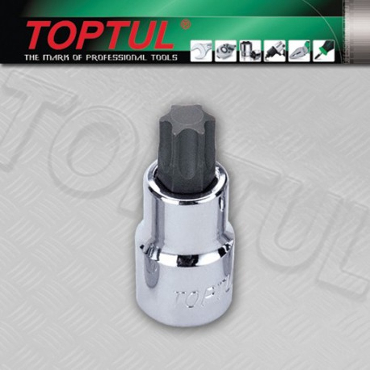 SOQUETE COM TORX TOPTUL BCLA1630