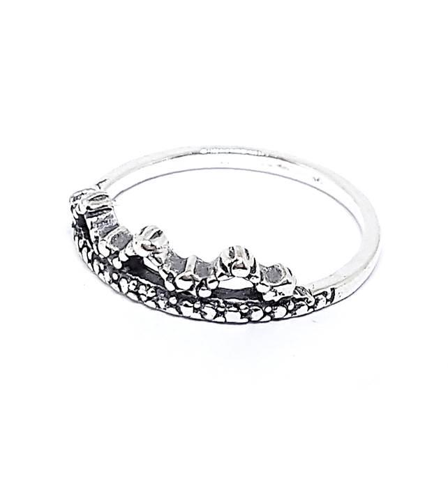 Anel de Prata Coroa