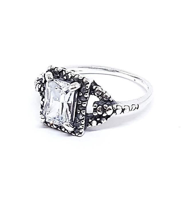 Anel de Prata Cristal