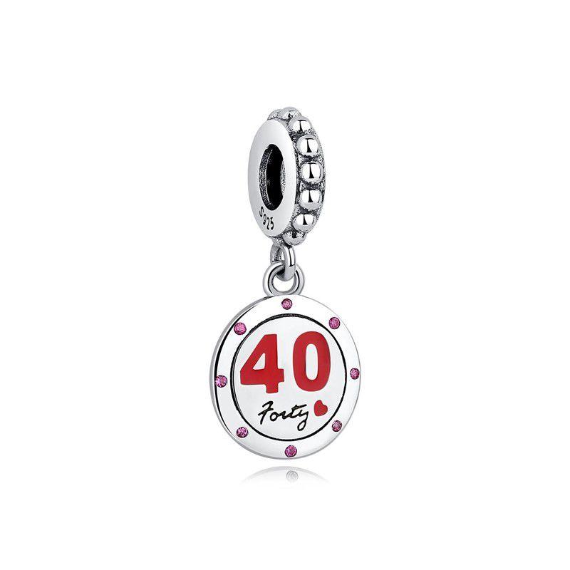 Berloque 40 anos - Prata Italiana