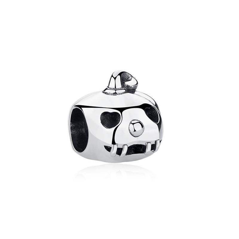 Berloque Abóbora Halloween - Prata Italiana