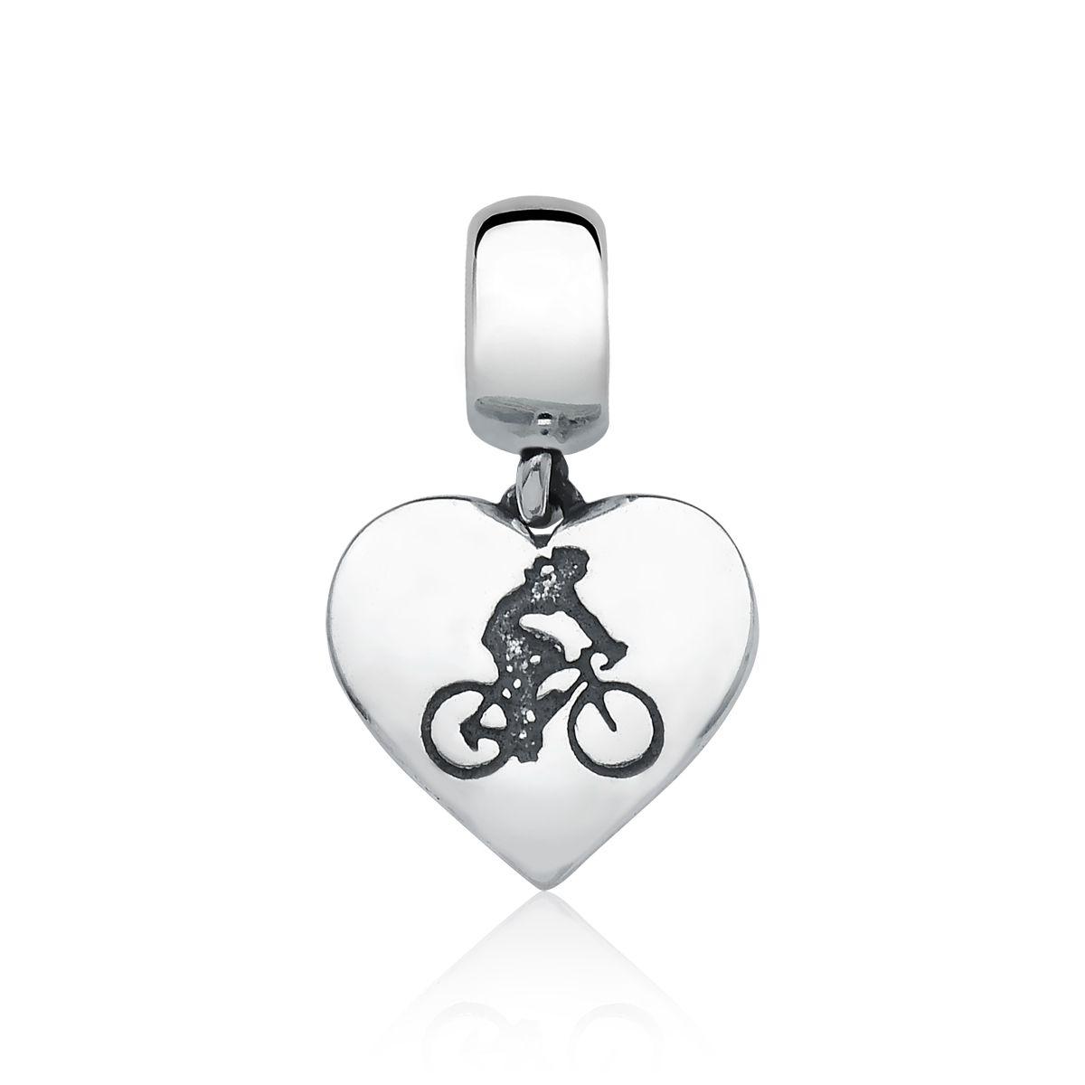 Berloque Amo Andar de Bicicleta