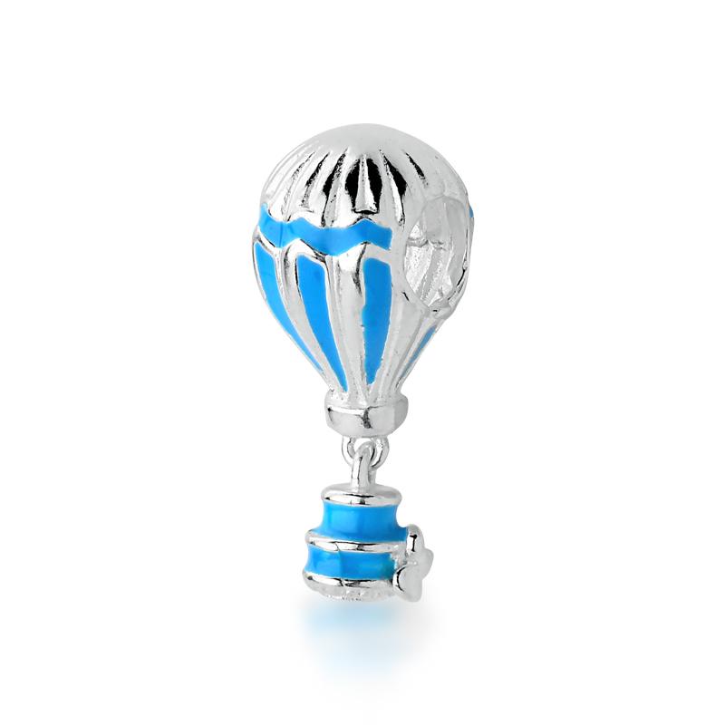 Berloque Balão de Ar Esmaltado Azul