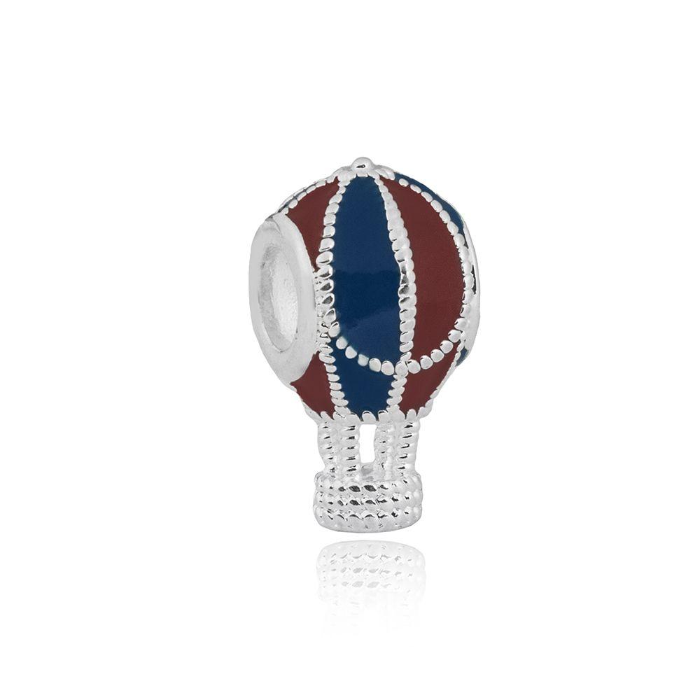 Berloque Balão de Ar Esmaltado Azul e Vermelho