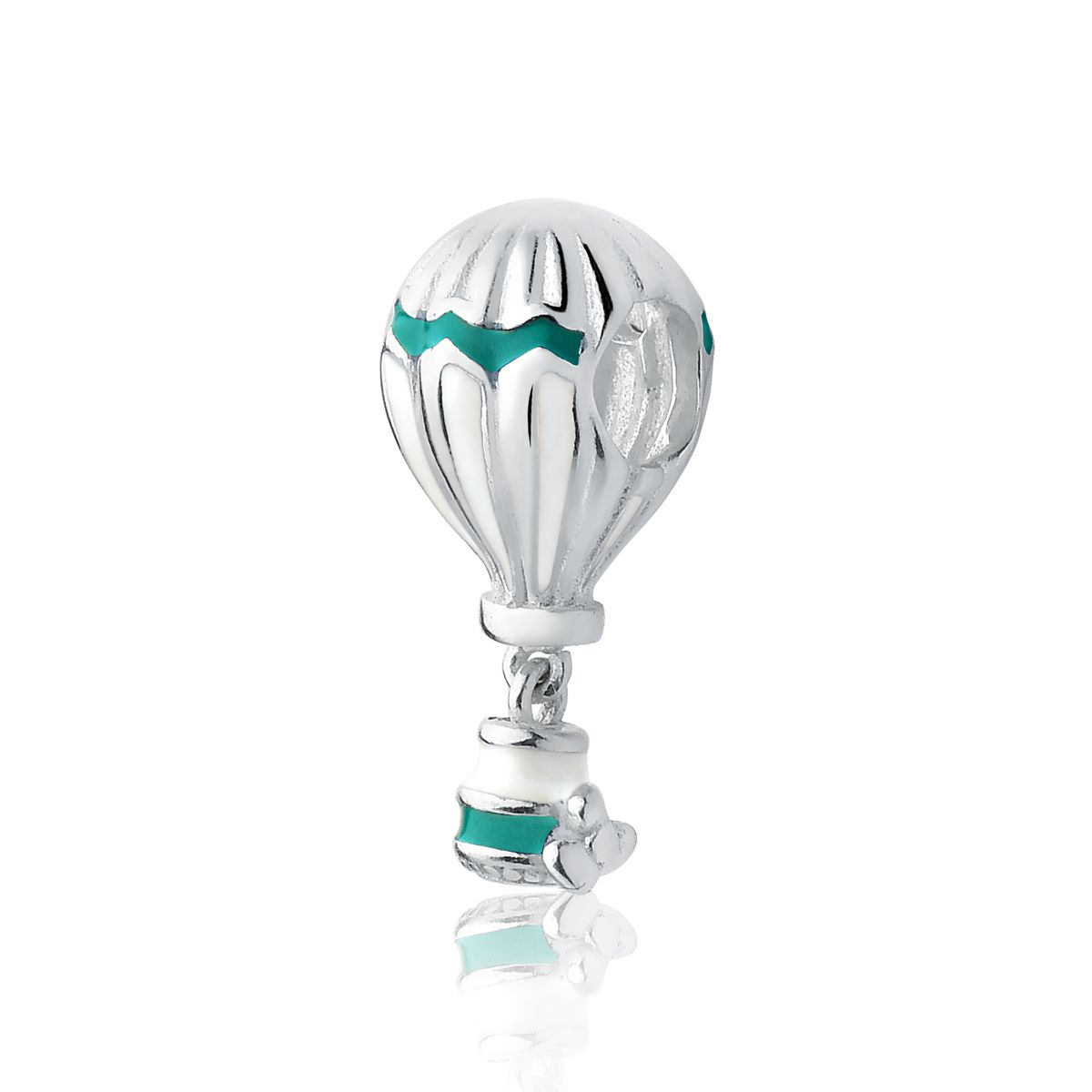 Berloque Balão Esmaltado Verde