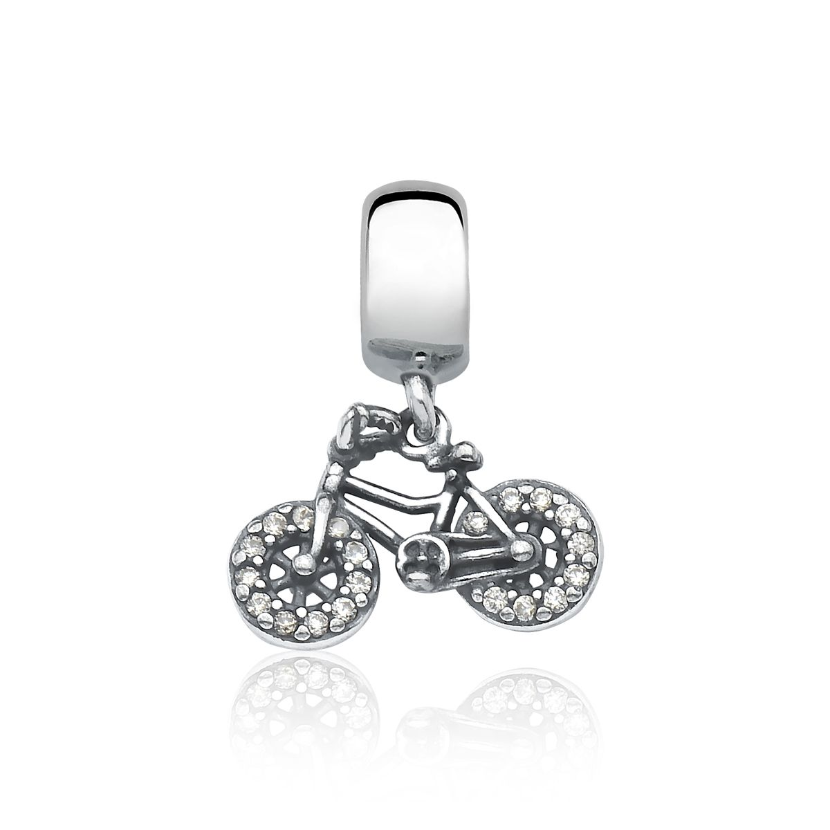 Berloque Bicicleta Zircônias Nacional
