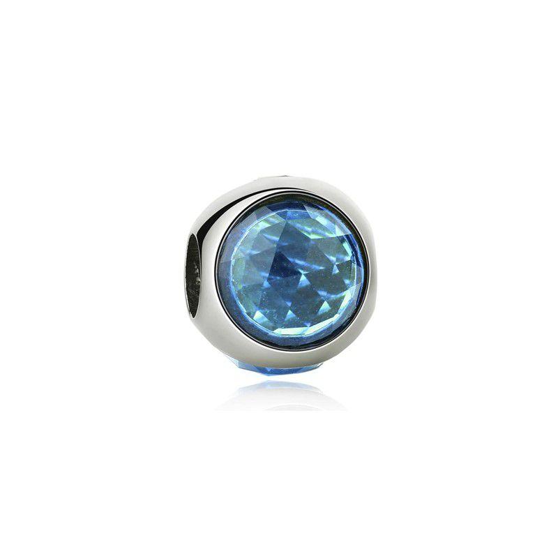 Berloque Brilho Elegância Cristal Azul