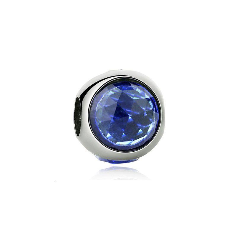 Berloque Brilho Elegância Cristal Azul Escuro