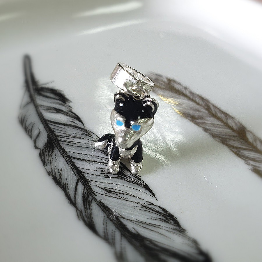 Berloque Cachorro Esmaltado Husky