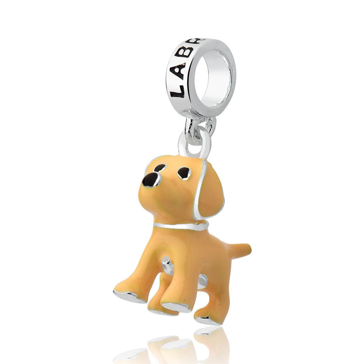 Berloque Cachorro Esmaltado Labrador