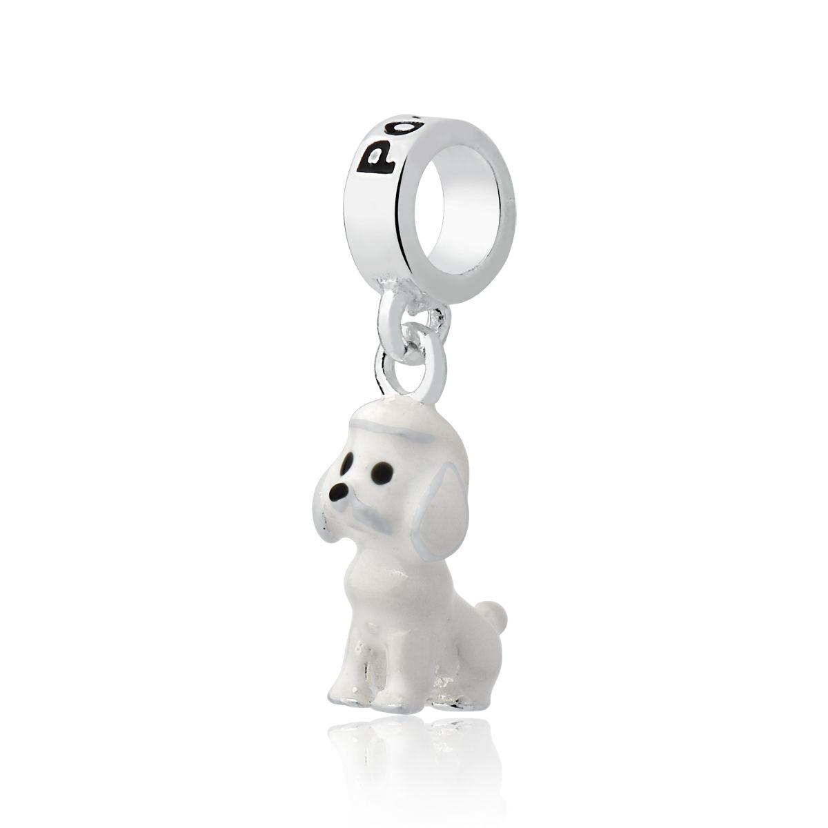 Berloque Cachorro Esmaltado Poodle