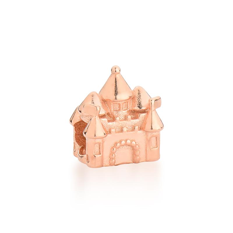 Berloque Castelo Cinderela - Ouro Rose