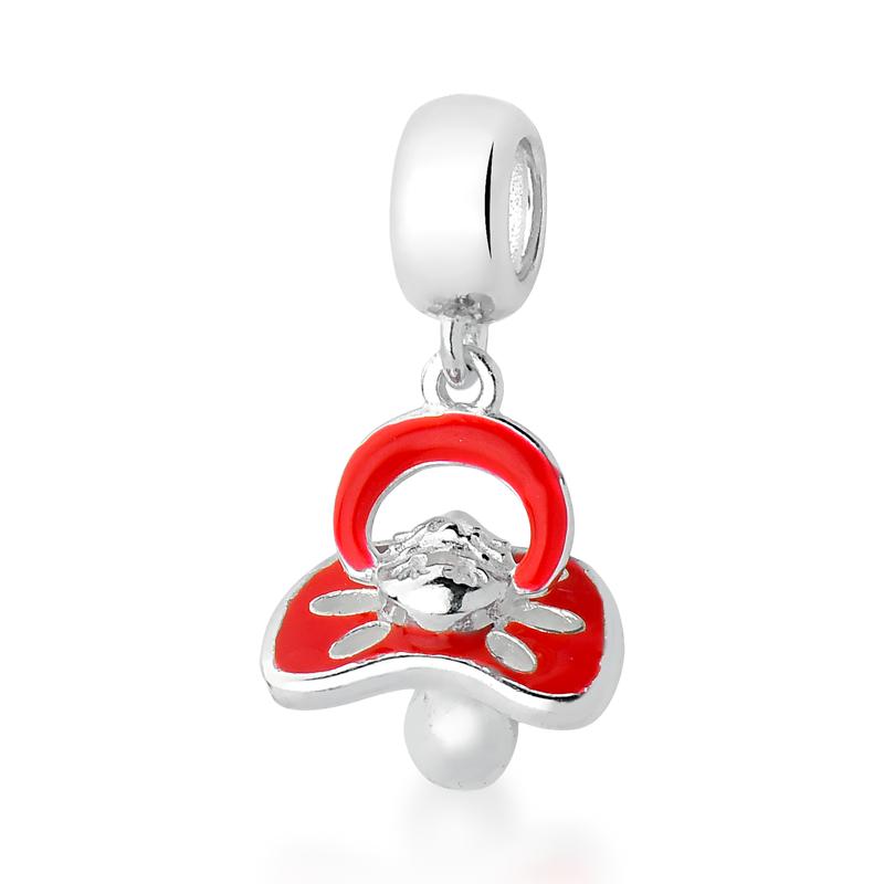 Berloque Chupeta de Bebê Vermelha