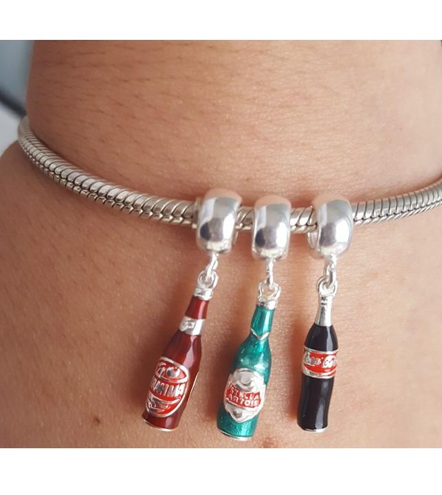 Berloque Coca Cola Garrafinha Esmaltada