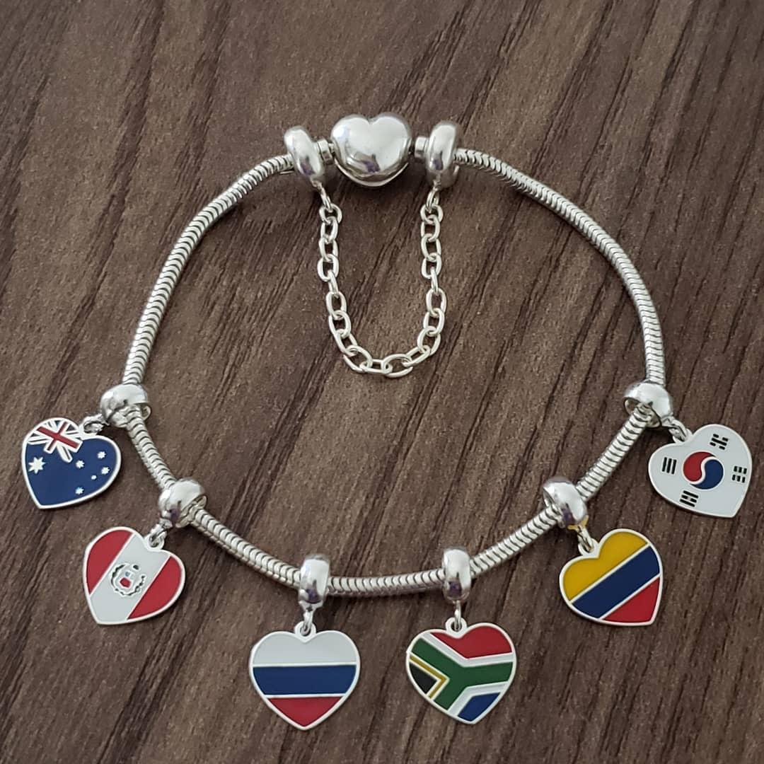 Berloque Coração África do Sul