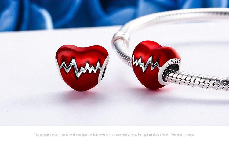 Berloque Coração Amor - Prata Italiana