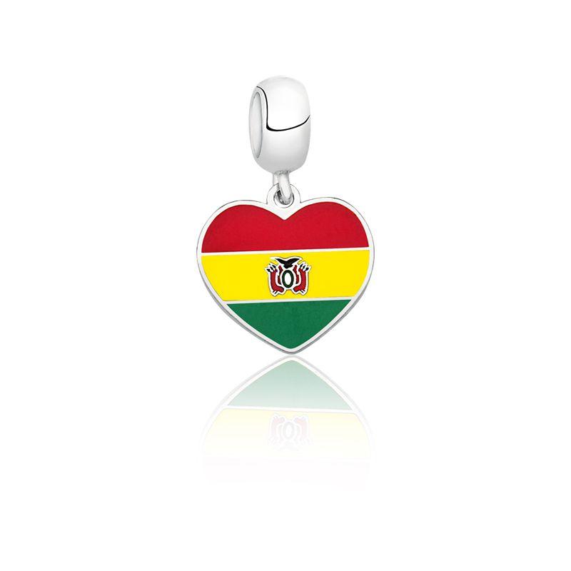 Berloque Coração Bolívia
