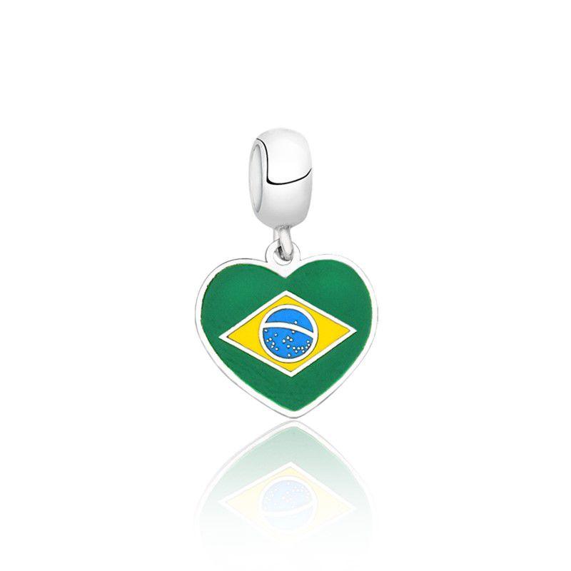 Berloque Coração Brasil