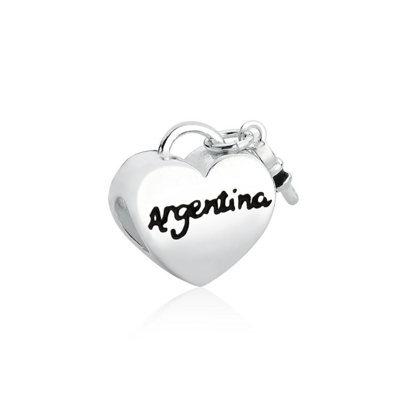 Berloque Coração Chave Argentina