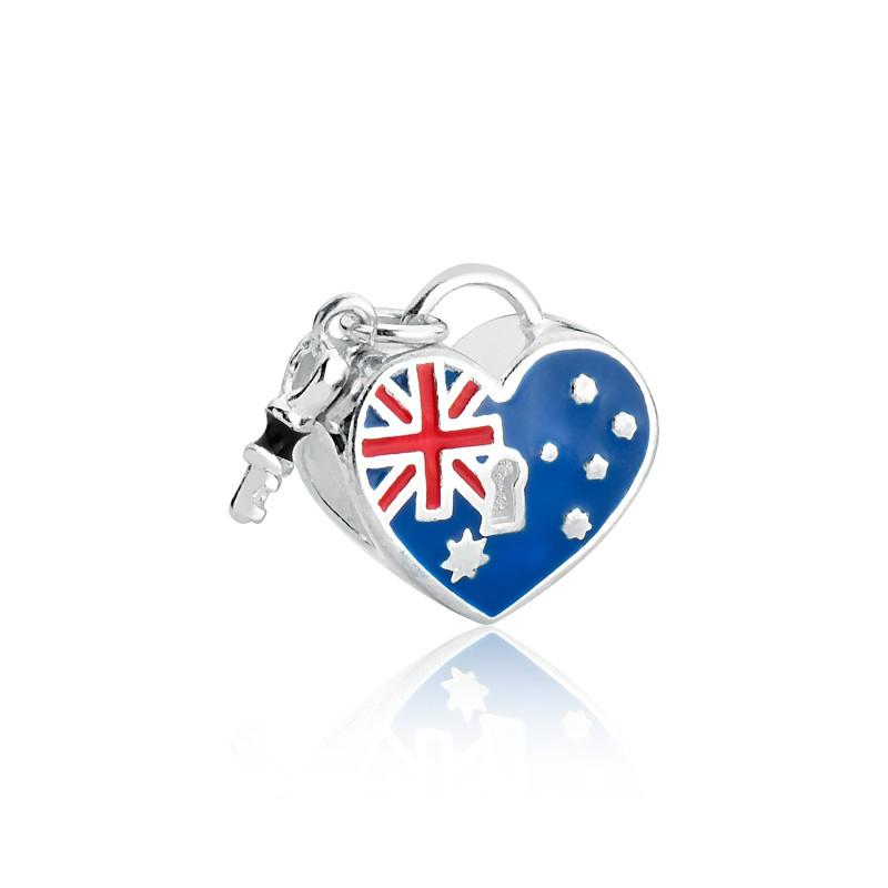 Berloque Coração Chave Austrália