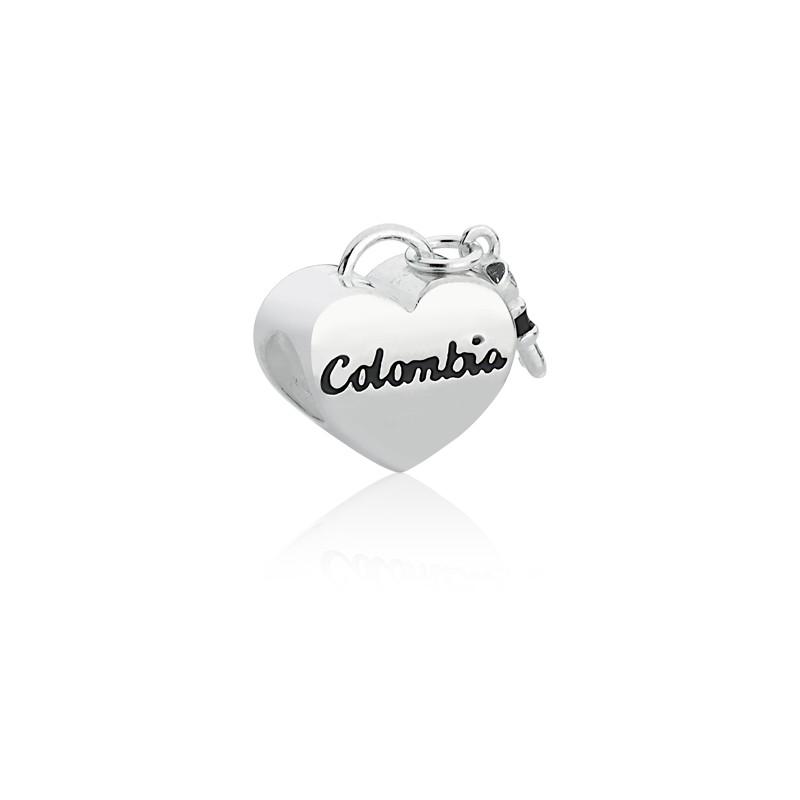 Berloque Coração Chave Colômbia