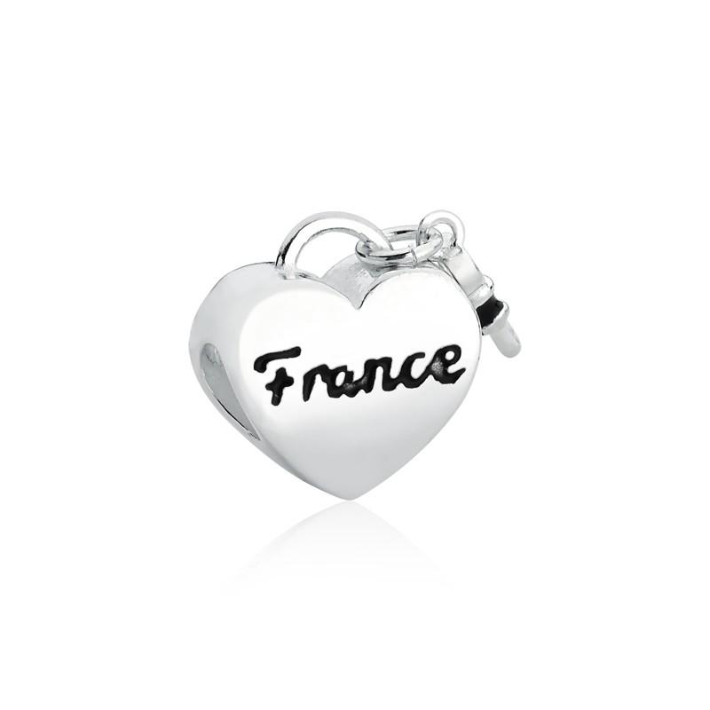 Berloque Coração Chave França