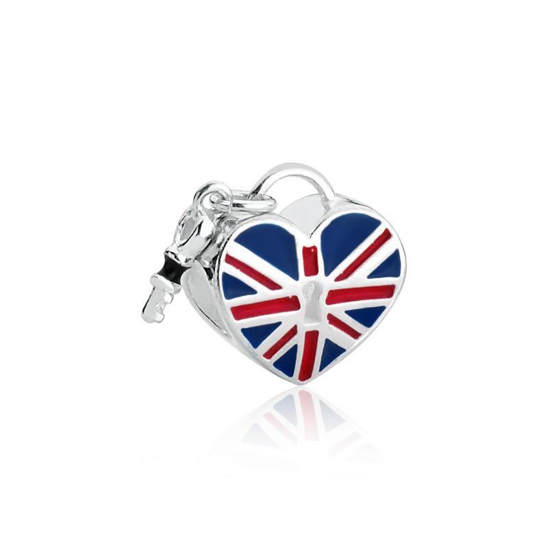 Berloque Coração Chave Inglaterra