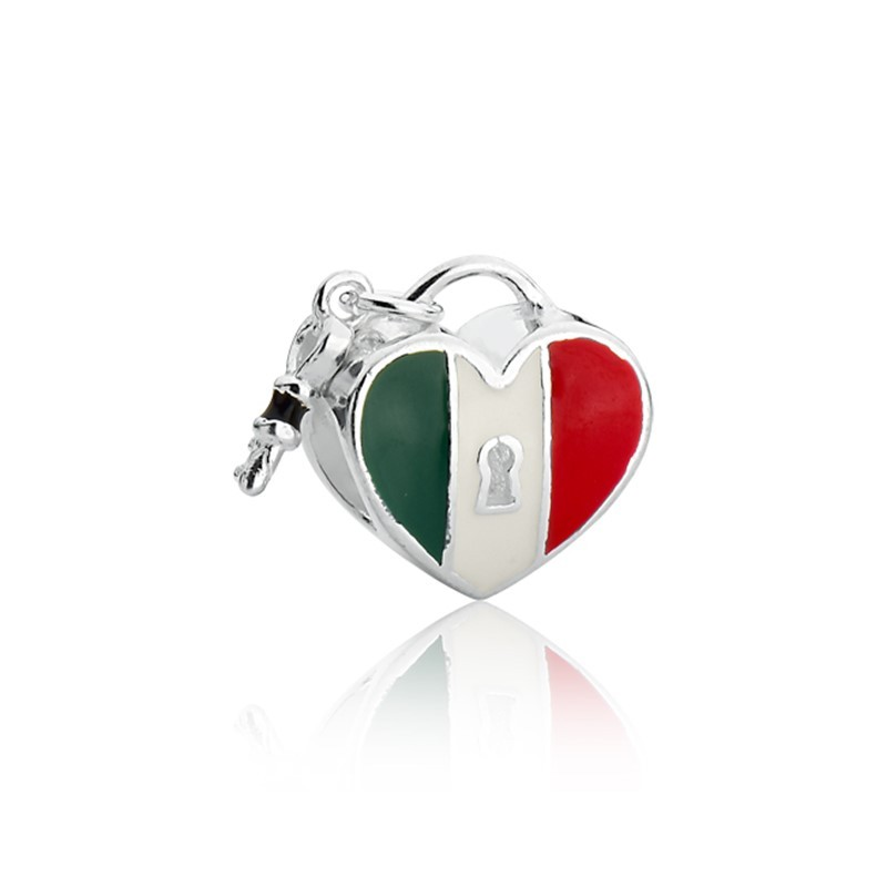 Berloque Coração Chave Itália