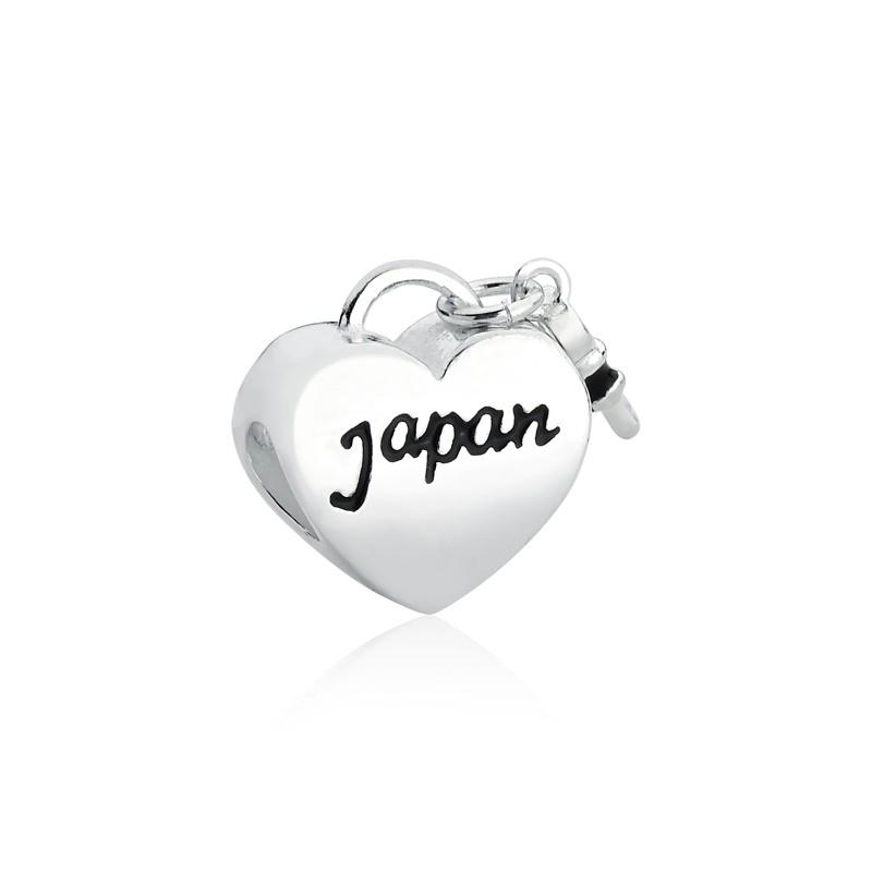 Berloque Coração Chave Japão