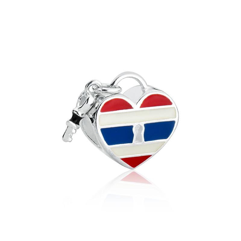 Berloque Coração Chave Tailândia