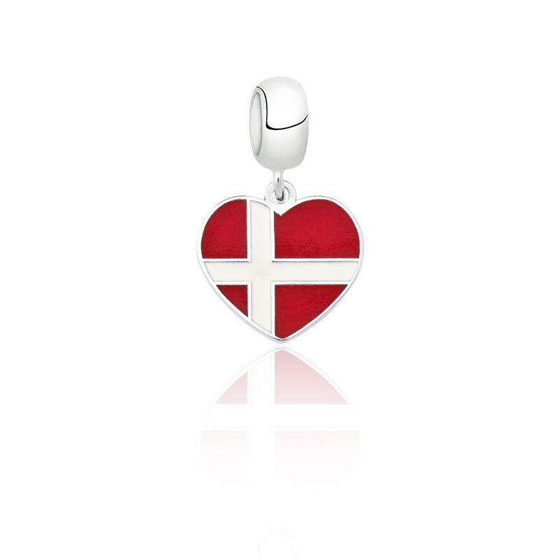 Berloque Coração Dinamarca