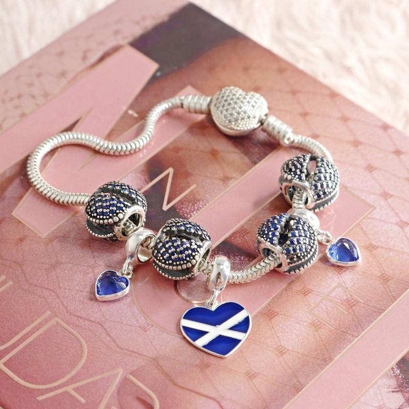 Berloque Coração Escócia