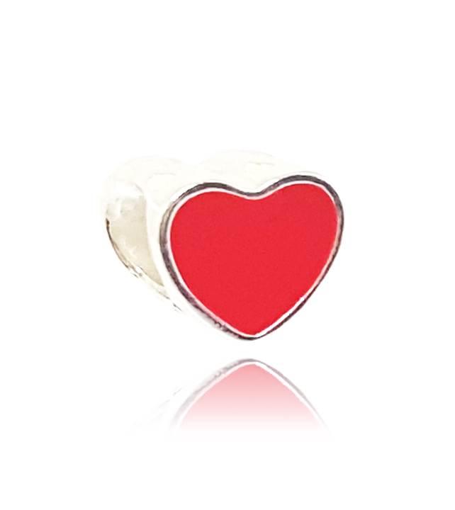 Berloque Coração Esmaltado