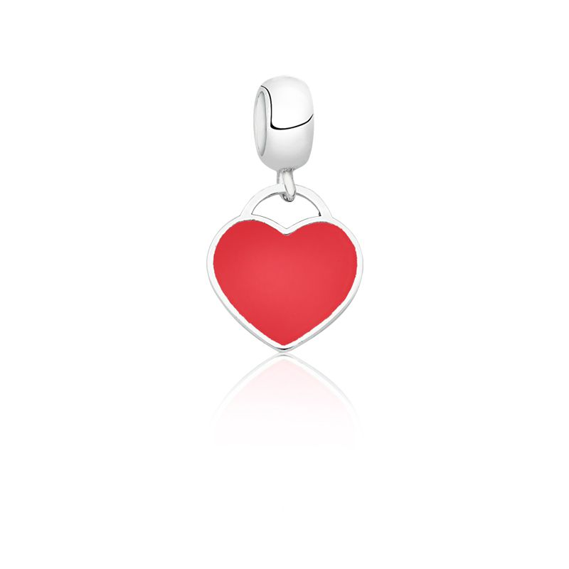 Berloque Coração Esmaltado Vermelho II