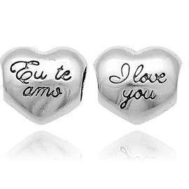 Berloque Coração I Love You