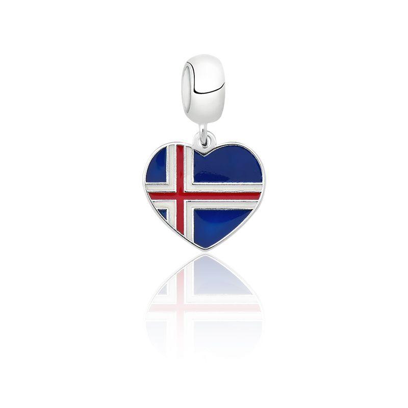 Berloque Coração Islândia