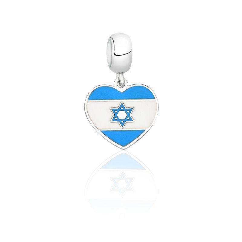 Berloque Coração Israel